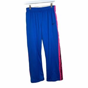 Nike Girls Youth Blue Pink Track Pants Athletic XL